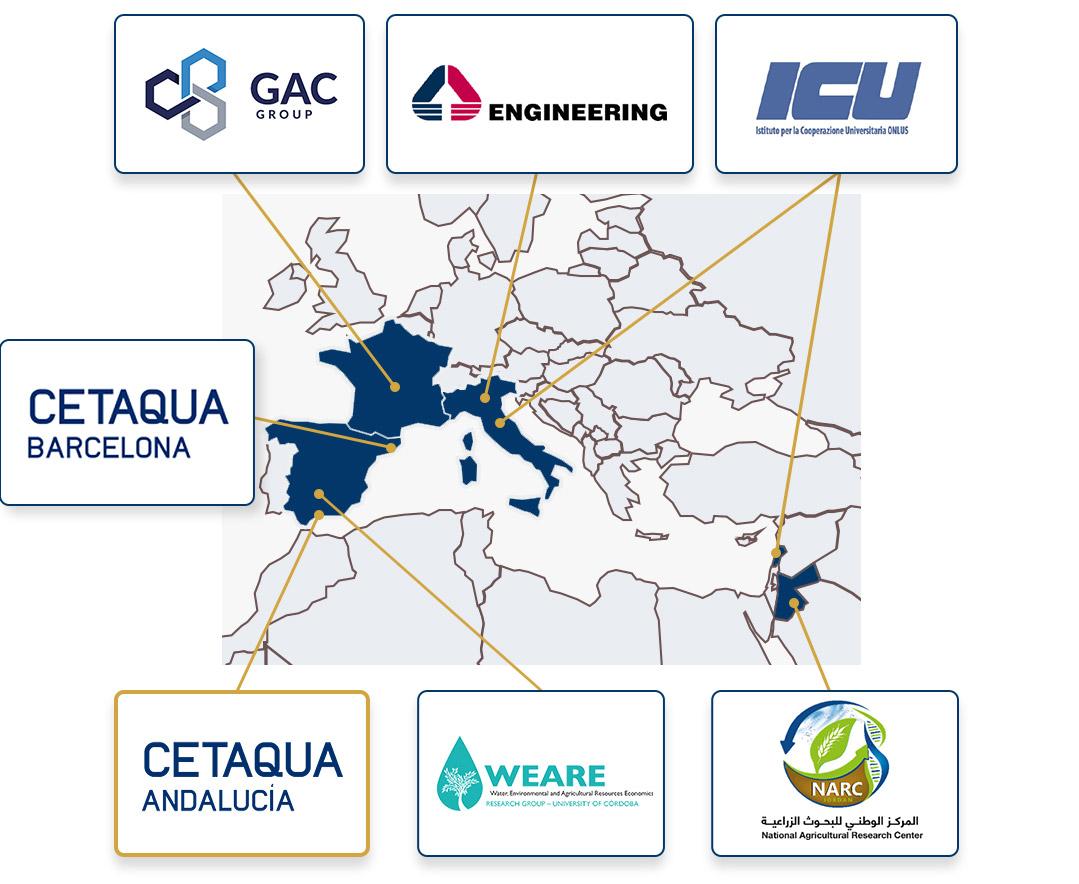 Consortium map ES